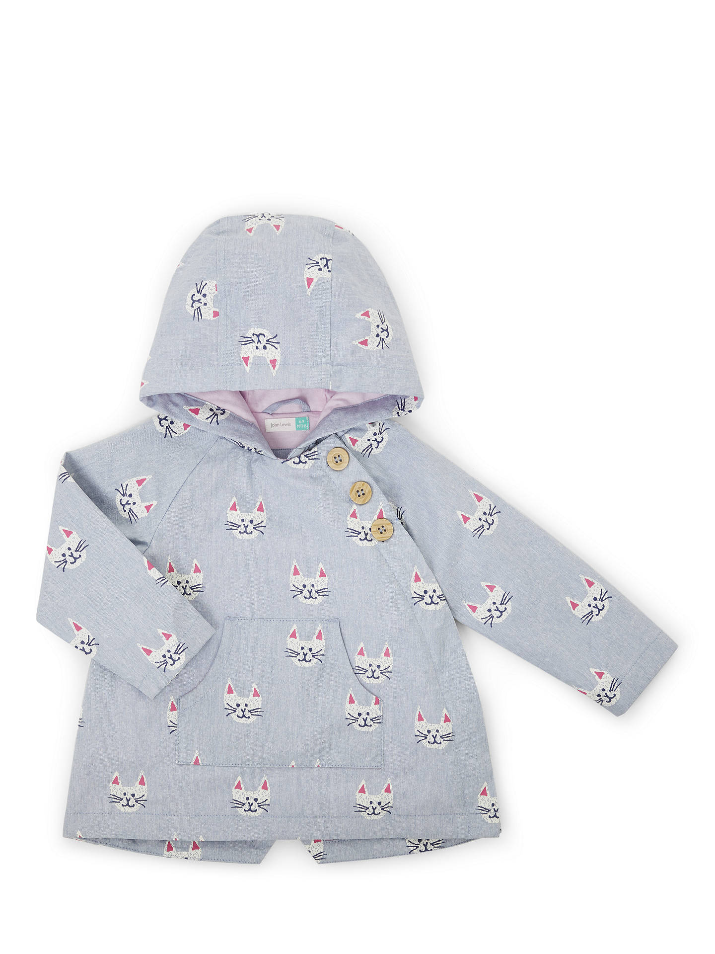 d9ee1be44 John Lewis Baby Cat Hooded Jacket