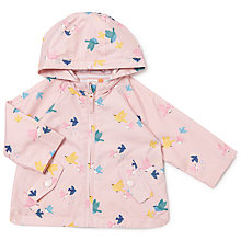 Buy John Lewis Baby Bird Print Jacket, Pink Online at johnlewis.com