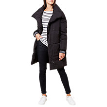 Buy Hobbs Lilianna Long Sleeve Puffer Jacket, Black Online at johnlewis.com