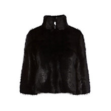 Buy Coast Larni Faux Fur Jacket, Black Online at johnlewis.com