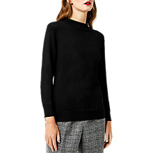 Buy Warehouse Funnel Neck Jumper, Black Online at johnlewis.com