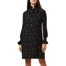 Buy Hobbs Luna Long Sleeve Dress, Black/Ivory Online at johnlewis.com