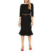 Buy Damsel in a dress Hawthorne Belted Ponte Dress, Black Online at johnlewis.com