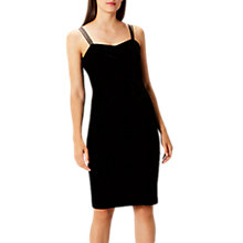 Buy Coast Scarlett Velvet Shift Dress, Black Online at johnlewis.com