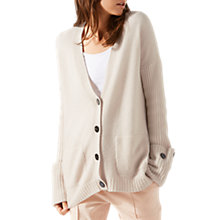 Buy Jigsaw Cashmere Seafarer Cardigan, Stone Online at johnlewis.com