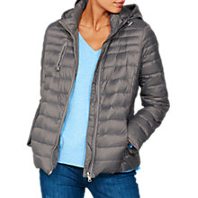 Buy Mint Velvet Graphite Quilted Lightweight Zip Jacket, Dark Grey Online at johnlewis.com