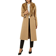 Buy Hobbs Longline Alba Coat, Camel Online at johnlewis.com