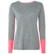 Buy White Stuff Lizzy Cashmere Jumper, Grey/Pink Online at johnlewis.com