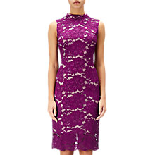 Buy Adrianna Papell Juliet Lace Sleeveless Sheath Dress, Wildberry/Blush Online at johnlewis.com