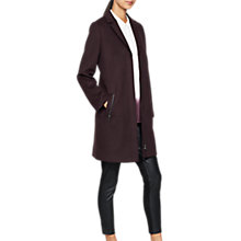 Buy Mint Velvet Zip Pocket Long Sleeve Coat, Dark Red Online at johnlewis.com