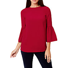 Buy Hobbs Louisa Top, Dark Red Online at johnlewis.com