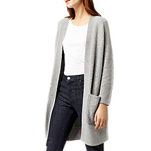 Buy Warehouse Soft Long Line Cardigan, Dark Grey Online at johnlewis.com