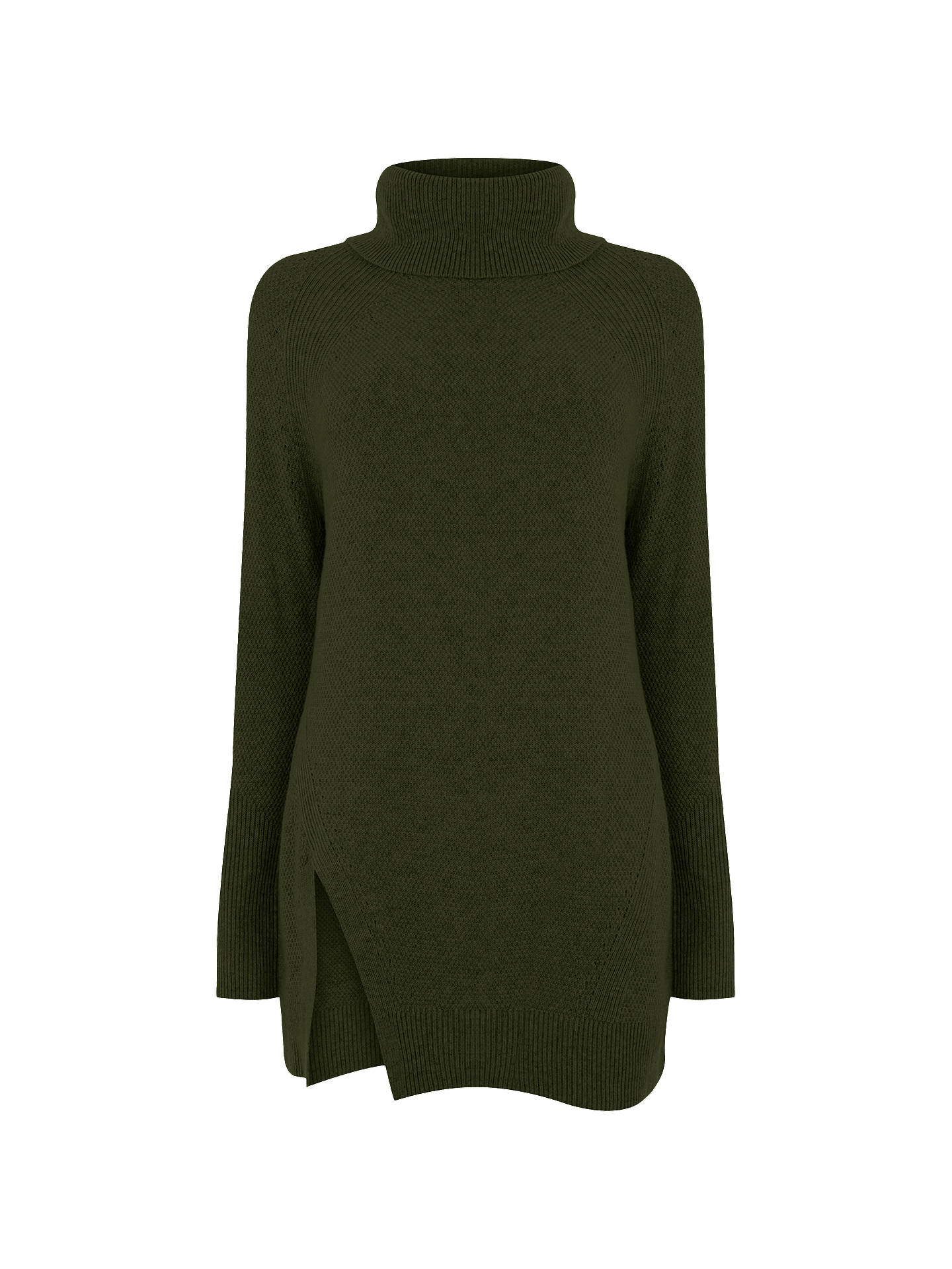 BuyWarehouse Stitchy Cowl Neck Jumper, Khaki, 6 Online at johnlewis.com