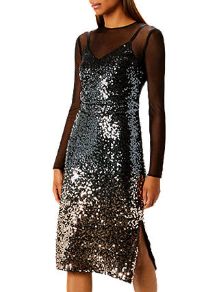 Buy Coast Gisella Ombre Mesh And Sequin Dress, , 6 Online at johnlewis.com