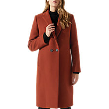 Buy Jigsaw Melange Wool Matchinsky Coat, Rust Online at johnlewis.com
