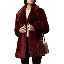 Buy Hobbs Bethany Coat, Merlot Online at johnlewis.com