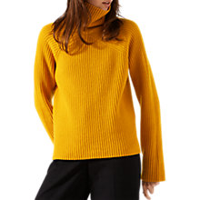 Buy Jigsaw Angled Rib Roll Neck Jumper Online at johnlewis.com