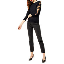 Buy Warehouse Lace Insert Jumper, Navy Online at johnlewis.com