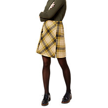 Buy Hobbs Christy Wool Blend Skirt, Olive/Multi Online at johnlewis.com