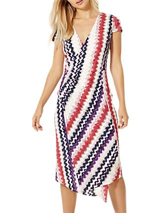 Damsel in a Dress Dashi Print Wrap Dress, Multi