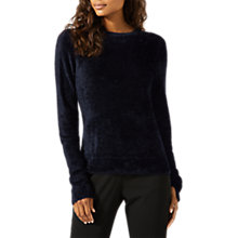 Buy Jigsaw Chenille Jumper, Navy Online at johnlewis.com