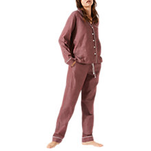 Buy Jigsaw Florence Cotton Blend Pyjamas, Wine Online at johnlewis.com