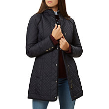 Buy Hobbs Wilton Coat, Navy Online at johnlewis.com