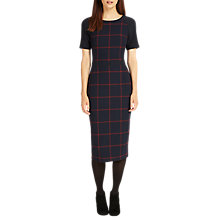 Buy Phase Eight Tammy Check Pencil Dress, Navy/Brick Online at johnlewis.com