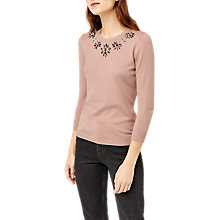 Buy Warehouse Embellished Statement Jumper Online at johnlewis.com