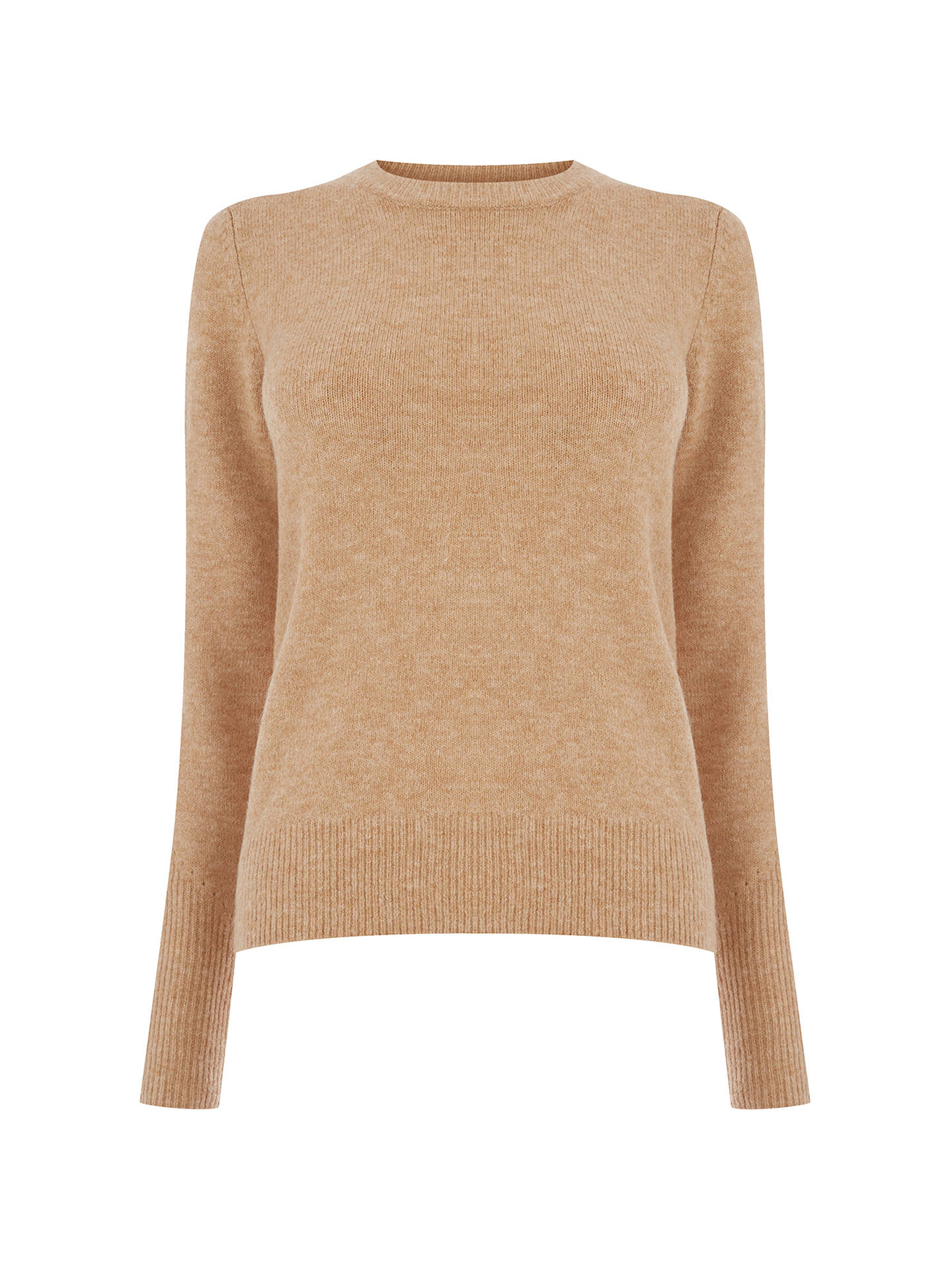 BuyWarehouse Soft Crew Jumper, Stone, 6 Online at johnlewis.com