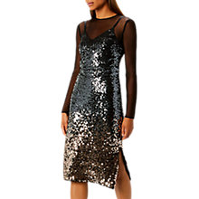 Buy Coast Shorter Length Gisella Ombre Sequin Dress, Multi Online at johnlewis.com