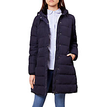 Buy Hobbs Lilianna Puffer Jacket, Navy Online at johnlewis.com