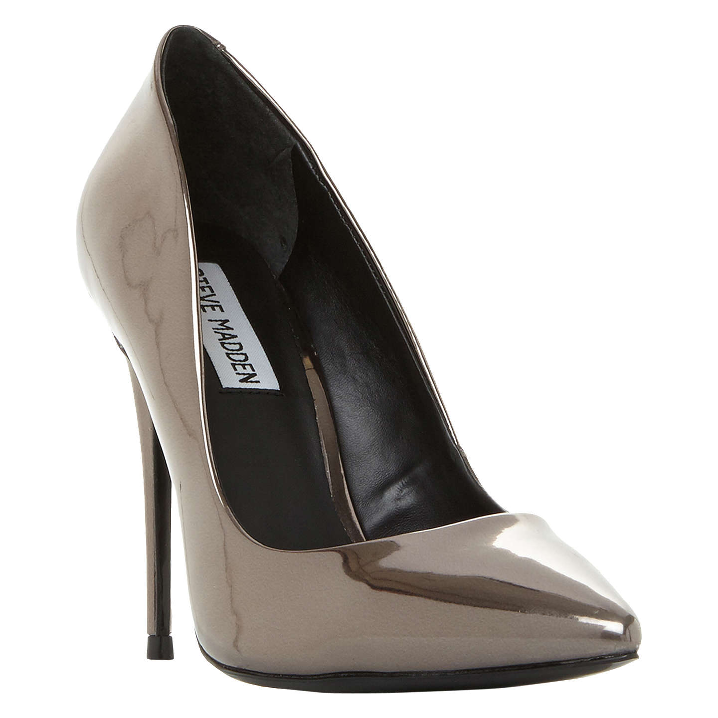 BuySteve Madden Daisie Stiletto Heeled Court Shoes, Pewter, 3 Online at  johnlewis.com ...