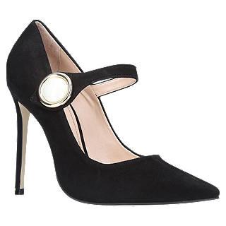 Carvela Argon Pointed Toe Stiletto Heeled Court Shoes, Black Suede