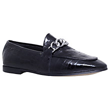 Buy KG by Kurt Geiger Kenzie Chain Loafers, Black Online at johnlewis.com