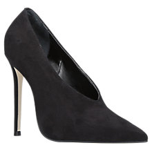 Buy Carvela Alistair Pointed Toe Stiletto Heeled Court Shoes, Black Suede Online at johnlewis.com