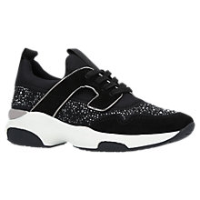 Buy Carvela Longitude Embellished Trainers, Black Online at johnlewis.com