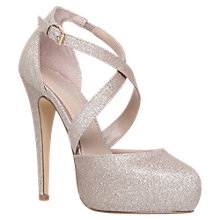 Buy Carvela Kassie Cross Strap Stiletto Heeled Court Shoes Online at johnlewis.com