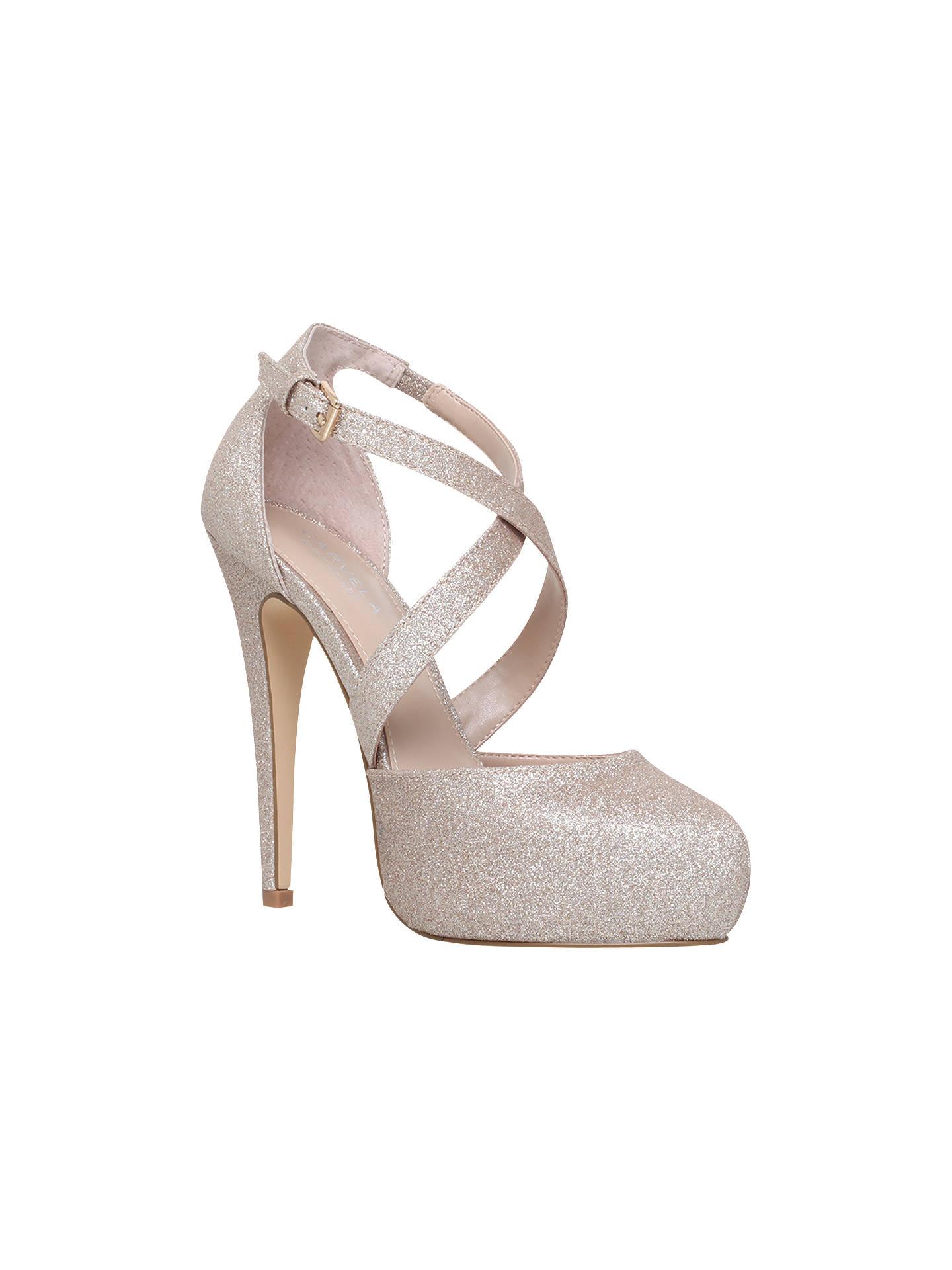bb14a7dada Buy Carvela Kassie Cross Strap Stiletto Heeled Court Shoes, Gold, 3 Online  at johnlewis ...