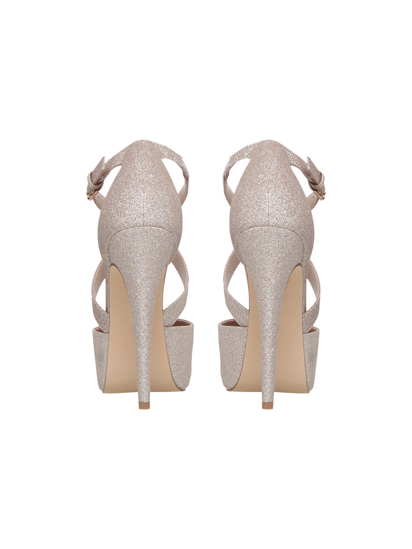0400c2eacb ... Buy Carvela Kassie Cross Strap Stiletto Heeled Court Shoes, Gold, 3  Online at johnlewis ...