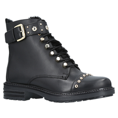 Product photo of Carvela son lace up ankle boots black leather