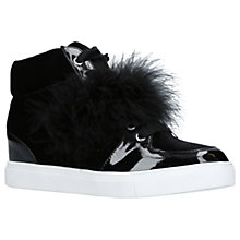 Buy Miss KG Lush High Top Trainers, Black Velvet Online at johnlewis.com
