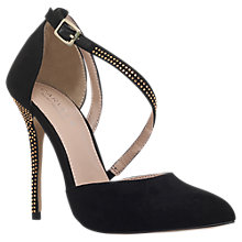 Buy Carvela Lucy 2 Studded Stiletto Heeled Court Shoes, Black Online at johnlewis.com