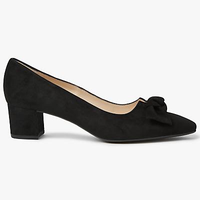 Peter Kaiser Binella Mid Block Heel Bow Court Shoes
