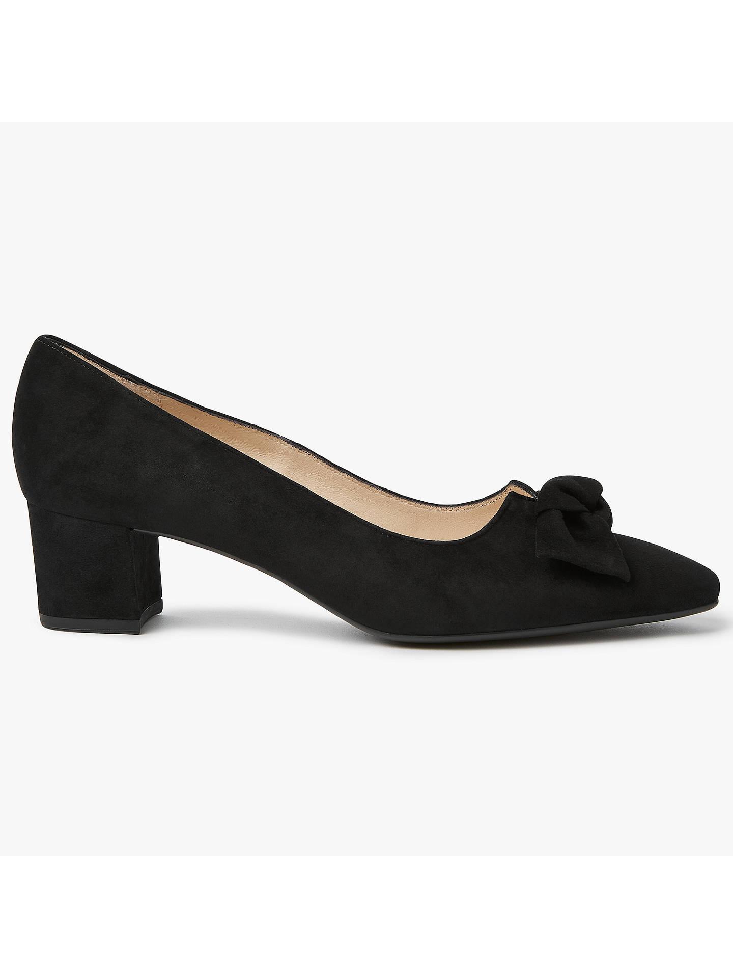 82d1e41ed34 Peter Kaiser Binella Mid Block Heel Bow Court Shoes at John Lewis ...