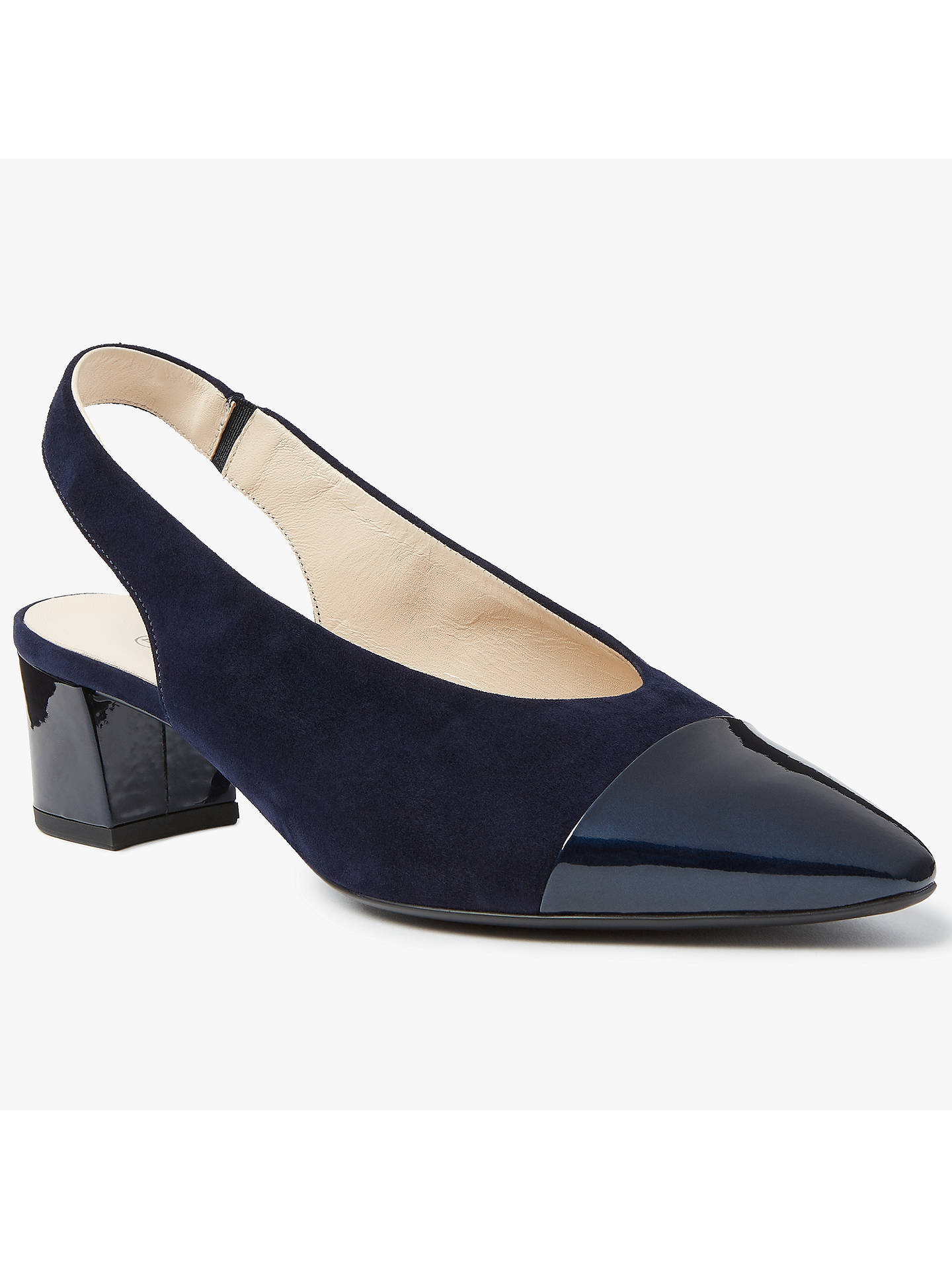 Peter Kaiser Sofie | Mid Heel Sling Back Shoes | Navy Suede | PK