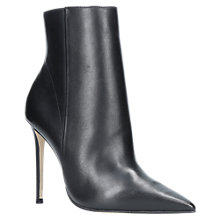 Buy Carvela Spectacular Stiletto Heeled Pointed Toe Ankle Boots, Black Leather Online at johnlewis.com
