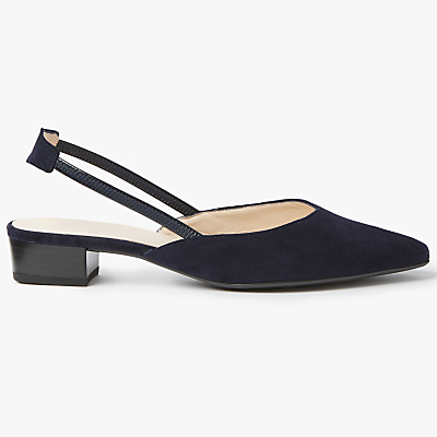 Peter Kaiser Carsta Slingback Court Shoes, Navy Suede