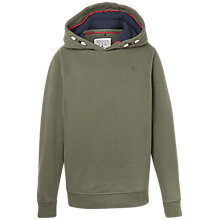Buy Fat Face Boys' Popover Hooded Sweatshirt, Khaki Online at johnlewis.com