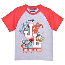 Buy Justice League Children's Printed T-Shirt, Grey Online at johnlewis.com